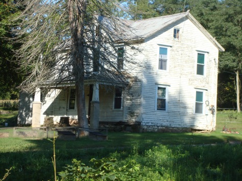 Recent photo of the farm house where the Solomon family lived