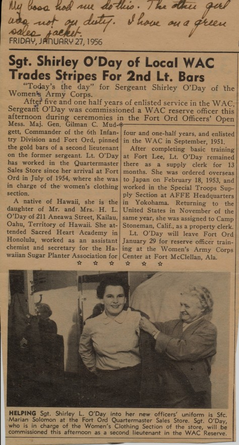 January 27, 1956 newspaper clipping
