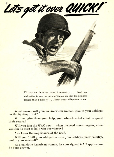 1943 WAC recruiting ad