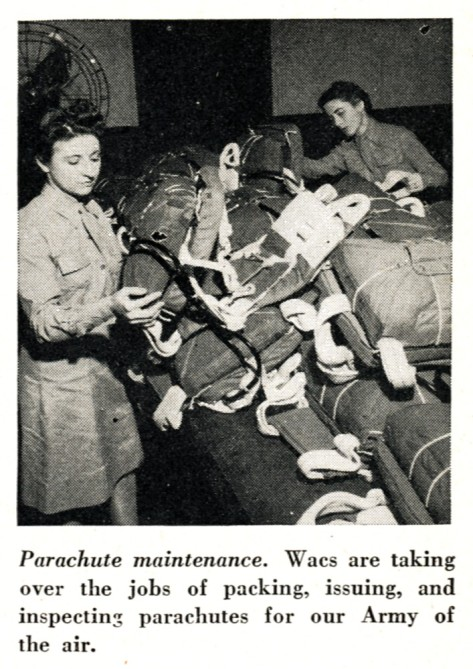 WACs packing parachutes